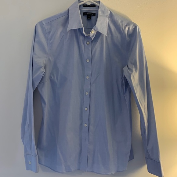 Lands End S 10 Pinpoint Cotton Oxford Like New